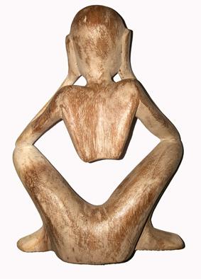 Yogi Trästaty - Vit