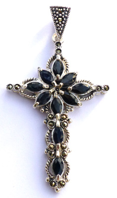 Kristna kors - Safir