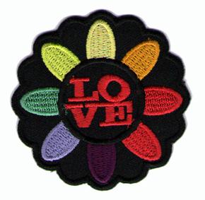 Tygmärken - Love / Kärlek Blomma