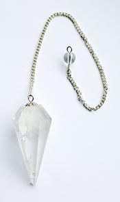 Pendel med kedja - Bergkristall