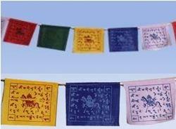 Fem tibetanska böneflaggor - 130cm