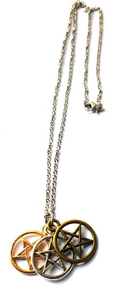Pentagram Halsband  -3 Fold