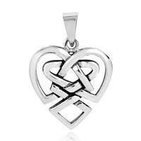 Keltikaknut  Hjärta Hänge i Silver