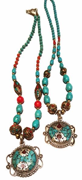 Kashmir Sten Halsband  - Amulett