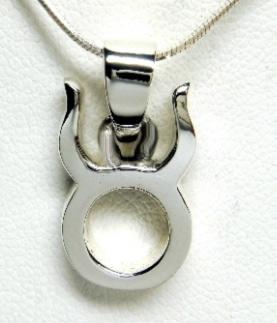 Stjärntecken Hänge i Silver -  Oxen