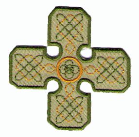 Tygmärken  - Keltisk Kors Grön