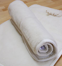Yogamatta i merinoull - 200x70 cm - Latexbotten - Eko