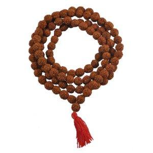 Shiva Yoga Rudraksha Seeds Mala - 7mm