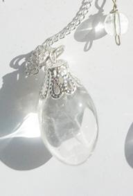 Bergkristall Shiva Lingam Halsband