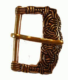 Gokstadsgraven Vikingatida Bältesspänne i Brons