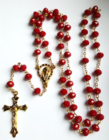 Kristna Radband i Glas - Röd