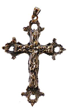 Medeltida Kors Hänge i Brons