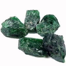 Grön Diopsid - Rå
