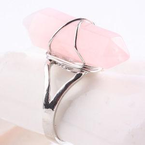 Rosenkvartsspets Ring - Silver