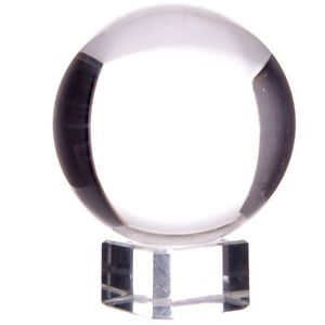 Kristallkula  10cm med glasfot