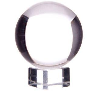 Kristallkula  8 cm med glasfot