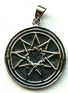 Alvstjärna / Elf Star Hänge i Silver