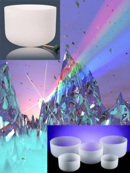 Kristallskål - Chakra Set  - 7stycken