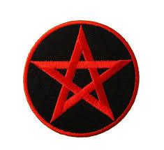 Tygmärken - Pentagram - Röd