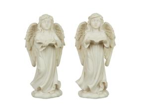 Vit ängel stående