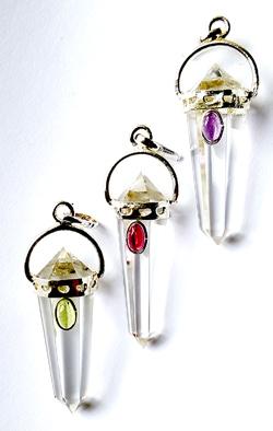 Bergkristall Halsband med cabachon