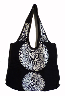Väska  - Aum Mandala Tribal -  Svart