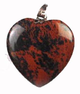 Mahogny Obsidian Hjärta Hänge