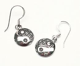 Blommanät / Yin Yang Örhängen i Silver