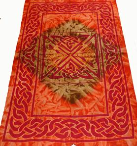 Keltiskt Batik Sängöverkast / Väggbonad - Square