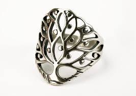 Livetsträ Ring i Silver