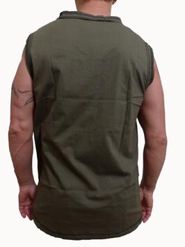 V neck Armlös T-shirt  - Lotus