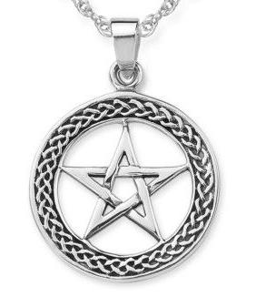 Keltisk  Pentagram i  Silver