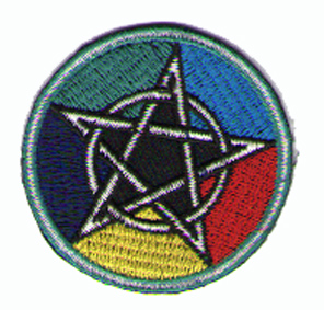 Tygmärken - Pentagram - Rengbågen