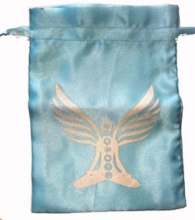 Satinpåse med Chakra Ängel