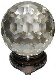 Kristallkula facetterade - 6cm