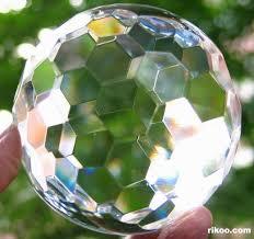 Kristallkula facetterade -10cm