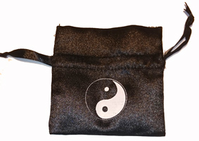 Satinpåse med Yin Yang