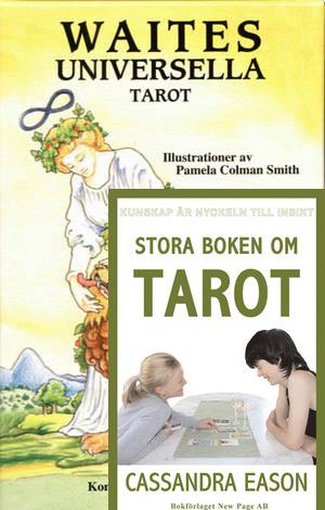 Rider Waite Bok / Tarotlek Paket  - På Svenska