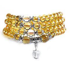 Mala Armband / Halsband  - Gula Glas