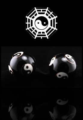 Kinesiska Hälsokulor - Svart Yin Yang