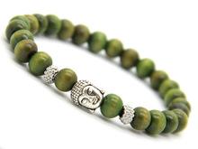 Buddha Armband - Grön Trä