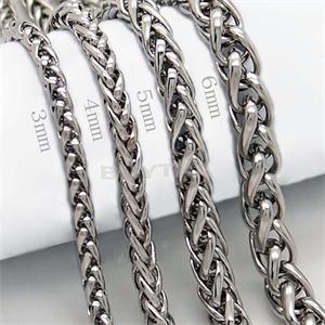 Stål Halskedjor i Rostfritt stål - Spiga  - 4 mm