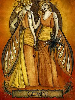 Tvillingarna Stjärntecken Vykort av Tree Free