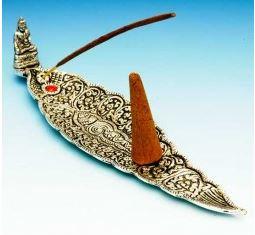 Rökelsehållare  - Buddha Båt