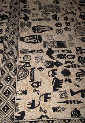 Tribal Sängöverkast / Väggbonad
