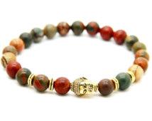 Buddha Armband -Piccaso Jaspis