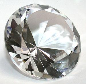 Glas Diamant  - 5cm