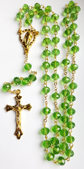 Kristna Radband i Glas - Grön