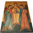 Ärkeängel Ikoner - Gabriel,  Raphael,  Mikael och Jesus