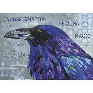 Dubbla vykort - Healing Raven